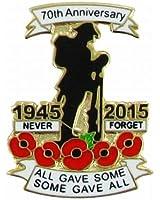 WW2 (1945-2015) 70th Anniversary Poppy Pin Badge