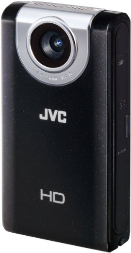 JVC GC-FM2BEU Full HD Pocket Camcorder (SD/SDHC/SDXC Slot, 5 MP, 4-fach digitaler Zoom, 7,6 cm (3 Zoll) Display) schwarz