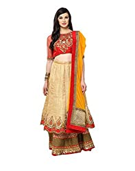 Yepme Women's Multi-Coloured Blended Lehengas - YPMLEHG0052_Free Size