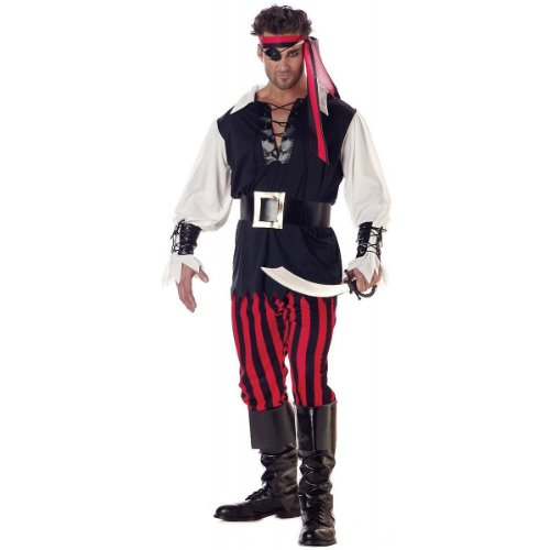 Boys Cutthroat Pirate Corpse Costume Buccaneer Zombie Halloween Fancy Dress