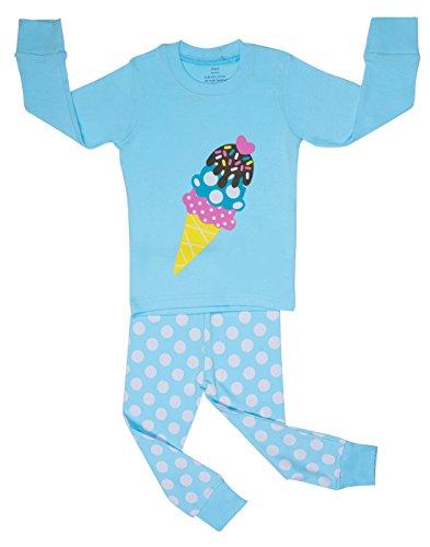 "Elowel ""Ice Cream Cone "" 2 Piece Pajama Set 100% Cotton - Size 12 front-1055939"