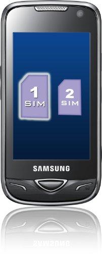 Samsung DuoS B7722i Smartphone (8,1 cm (3,2 Zoll) Display, Dual SIM, Touchscreen, 5 Megapixel Kamera) schwarz