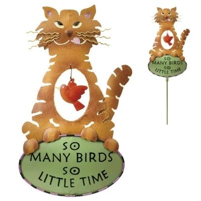 Garden Stake So Little Time - Cat Kitten - by Regal Gift