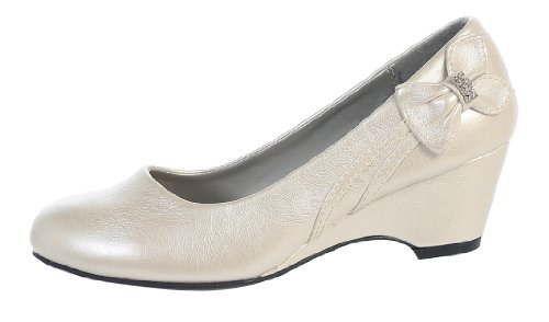Girls Wedge Shoe (1, Ivory)