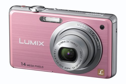 Panasonic Lumix FS11 Digital Camera - Pink (14.1MP, 5x Optical Zoom) 2.7 inch LCD