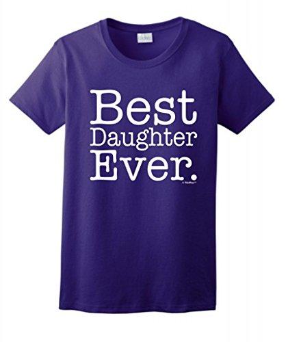 Best Daughter Ever Ladies T-Shirt Medium Purple