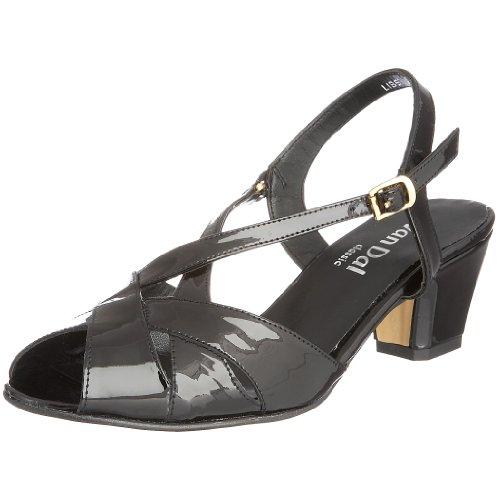 Van Dal Women's Libby II Heeled Sandal Black Pat 0293110 4 UK E