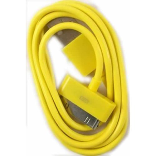 USB Data Cable For Apple iPhone 3G 3GS 4 4S iPod Touch 2nd 3rd 4th Generation / Yellow Design
