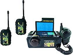 ShopMeFast 3 Players Army Command Centre Walkie Talkie Toy Set For Kids