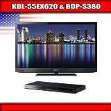 "Sony KDL-55EX620 - 55"" BRAVIA LED-backlit LCD TV + Sony BDP-S380 - 3D Blu-r ...."