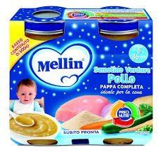 Mellin Pappa Completa al Pollo per Bambini, 6+ Mesi - 2 Vasetti da 250 gr - Totale 500 gr