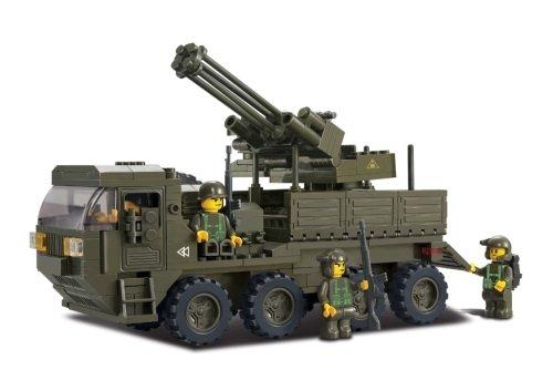 Sluban Schwertransporter mit Geschütz NEU Serie 2, kompatibel zu anderen Bausteinen