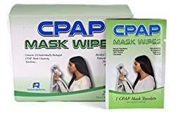 CPAP Mask Wipes, Case of 20 | Single Packets for Travel & More | Natural Cleaning Solution for Nasal Pillows, Full Face on BiPAP & Other PAP Devices | Clean Your Tubing, Machine & Sleep Apnea Supplies