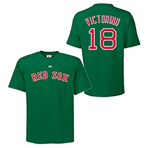 Shane Victorino Boston Red Sox Green Player T-Shirt by Majestic by Majestic