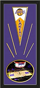 Los Angeles Lakers Wool Felt Mini Pennant & Staples Center 2011 Photo - Framed... by Art and More, Davenport, IA