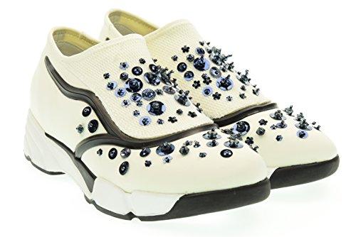 UMA PARKER donna sneaker bassa 708-10 Bianco 36 Bianco