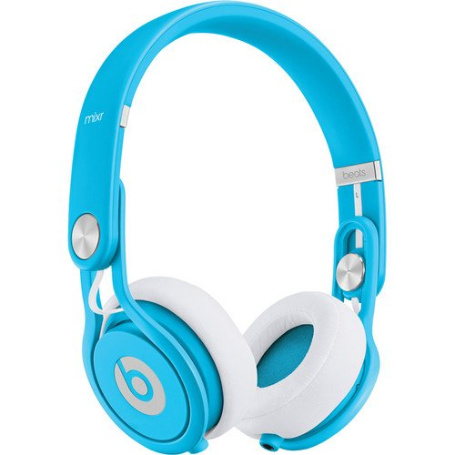 Beats by Dr. Dre Mixr Deep Bass Response Lightweight DJ Over-ear Headphones (Blue)