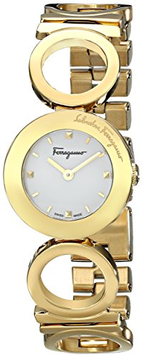 Salvatore-Ferragamo-Womens-FP5990014-Gancino-Yellow-Gold-Ion-Plated-Stainless-Steel-Watch-with-Link-Bracelet