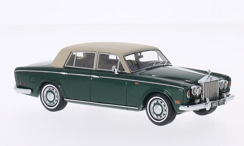 rolls-royce-argento-ombra-verde-met-beige-opaco-rhd-1974-modello-di-automobile-modello-prefabbricato