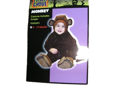 Infant Toddler Monkey Halloween Costume 6-12 Months