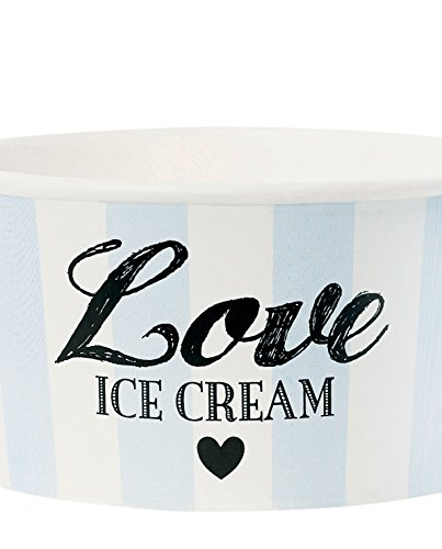 Miss sundae avec cuillère love light blue