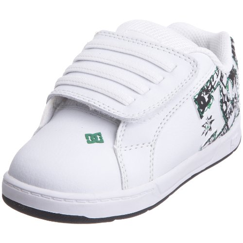 DC, Scarpe da skate bambino, Bianco (White/Black/Gre), 4 UK Toddler