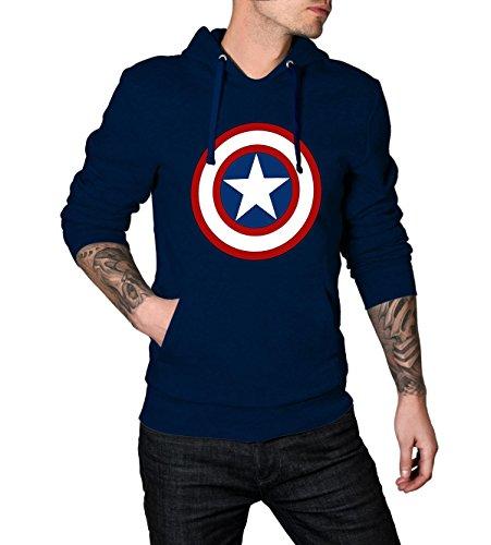 Captain America Logo Mens Hoodie L (Captain America Hoodies For Men compare prices)
