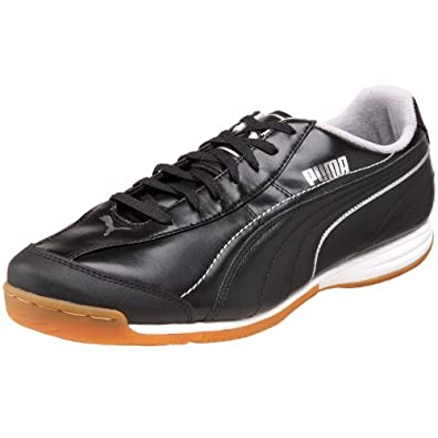 PUMA Men's Esito XL IT Soccer Shoe,Black/Black/Puma Silver,12 D(M) US