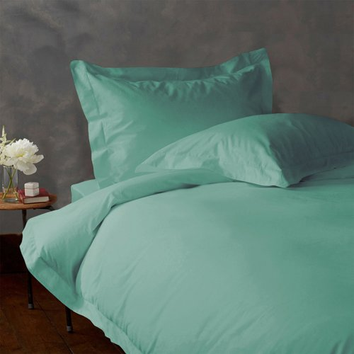 LACASA BEDDING 400 TC Egyptian cotton Duvet set with 2 extra pillowcases Italian Finish Solid ( Twin XL , Aqua Blue ) lacasa bedding 400 tc egyptian cotton fitted sheet 17 extra deep pocket italian finish solid queen brick red