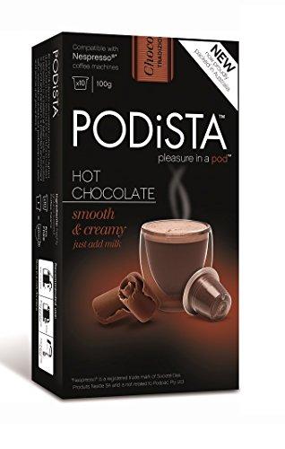 Hot Chocolate Nespresso Compatible Capsules Hot Cocoa Pods - Smooth & Creamy - 10 Pod Package (Nespresso Hot Chocolate Capsules compare prices)