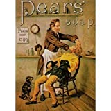 1093 EXTRA LARGE PEARS SOAP METAL ADVERTISING WALL SIGN RETRO ART