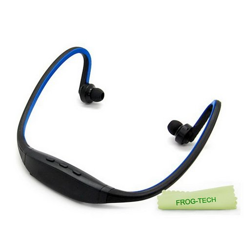 Frog-Tech Colorful Sports Wireless Bluetooth Headset Headphone Earphone For Iphone 4 ,Iphone 4S Samsung S3 S4,Etc(Black/Blue)