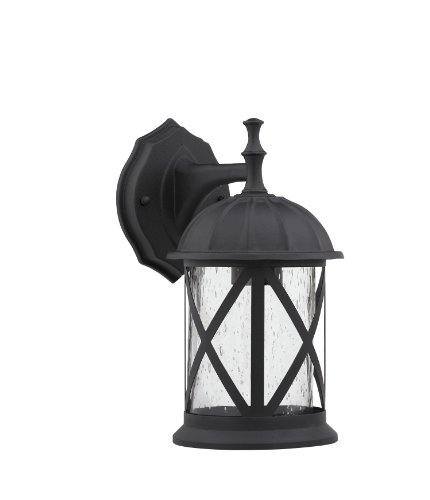 Chloe Lighting CH5331-BLK-OSD1 10.25-Inch Tall Transitional 1-Light Black Outdoor Wall Sconce