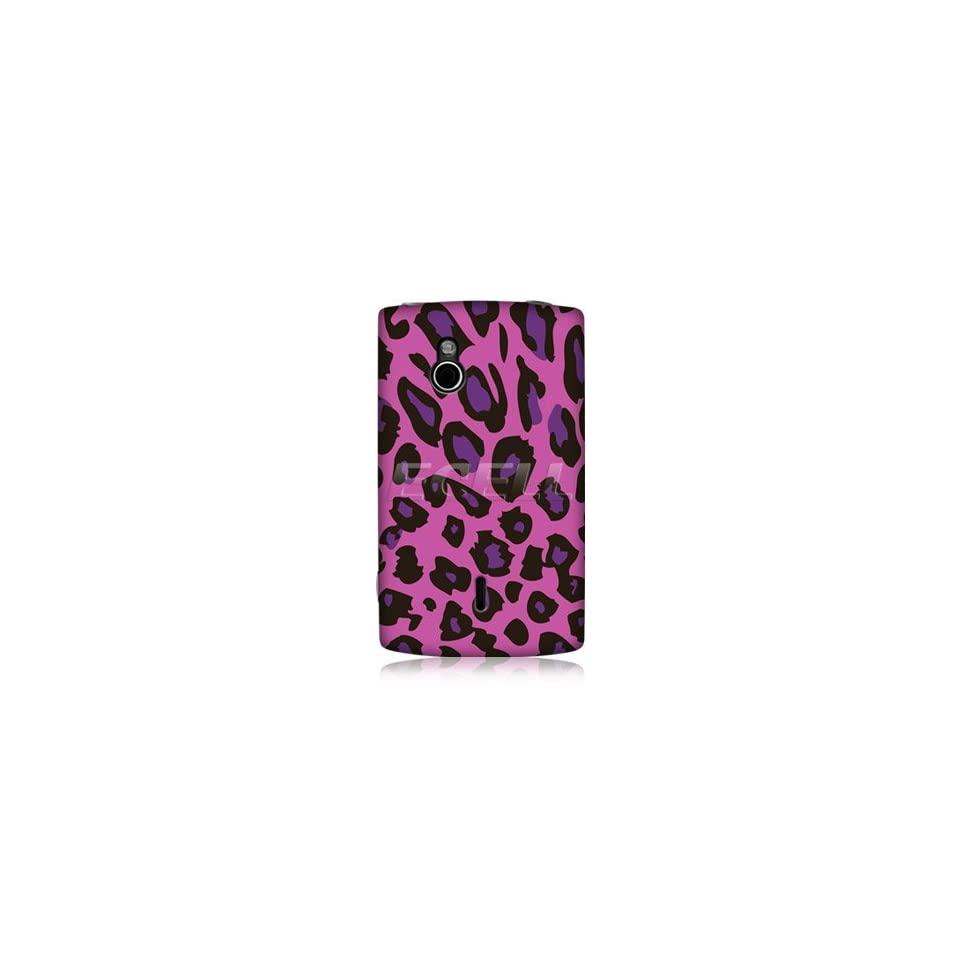 Ecell   HEAD CASE EXOTIC PINK LEOPARD BACK CASE FOR SONY ERICSSON XPERIA MINI PRO SK17