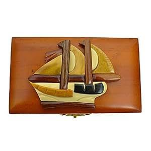 Amazon.com: Handmade Wooden Art Intarsia Ship 1 Boat