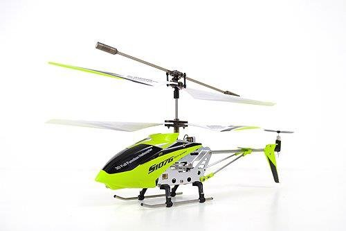 A Set of 2 Brand New Genuine Syma S107G 3 Channels Mini Indoor Co-axial Metal Body Frame & Built-in Gyroscope Rc Remote Controlled Helicopters (1) Green and (1) White with 2 AC Chargers