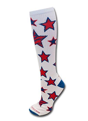 Star Zebra Socks Royal/Red S/M front-1055965