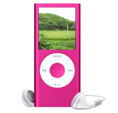 "Ricco 2GB 1.8"" LCD TFT MP3 AUDIO & MP4 VIDEO PLAYER FM REC EBOOK (PINK) + FREE SILICON CASE"