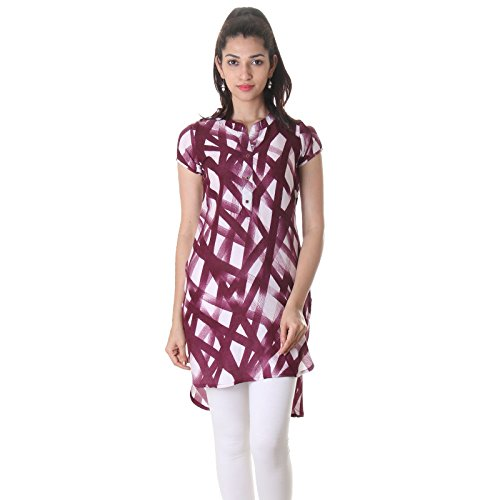 Grape-Wine-Stand-Collar-With-Open-Placket-Rayon-Tunic-Top-From-eSTYLe