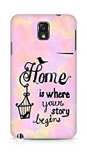 AMEZ home is where your story begins Back Cover For Samsung Galaxy Note 3
