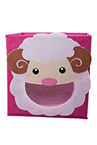 Smiling Sheep Collapsible Toy Storage Box and Closet Organizer for Kids