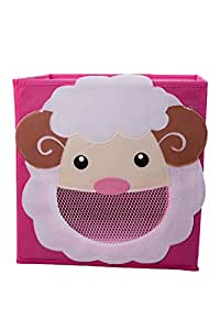Clever Creations Smiling Sheep Collapsible Toy Storage Box And Closet Organizer For Kids