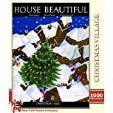 Christmas Village 1000 Piece Puzzle House Beautiful Magazine by New York Puzzle Company