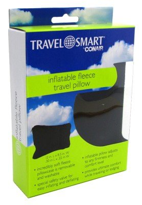 Amazon Com Conair Travel Smart Inflatable Fleece Travel