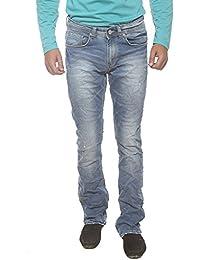 Spykar Mens Light Blue Slim Fit Low Rise Jeans (Rafter)