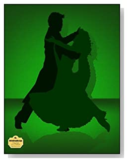 Tango Dance In Green Notebook - Love to dance? Love to Tango? Couple dancing the Tango in a green and black color scheme grace the cover of this college ruled notebook.