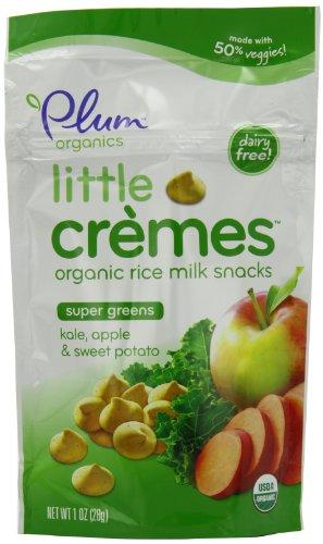 Plum Organics Baby Little Cremes Organic Rice Milk Snacks Super Greens, Kale, Apple and Sweet Potato, 1 Ounce (Pack of 4)