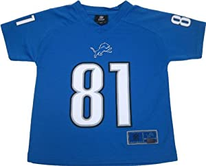 NFL 2012 Detroit Lions Calvin Johnson Team Apparel Kids Small Performance Blue Jersey... by OuterStuff