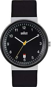 Braun Herren-Armbanduhr BN0032BKSLBKG(CB) Analog Quarz Leder 66543