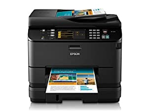 Epson WorkForce Pro WP-4540 Wireless All-in-One Color Inkjet Printer, Copier, Scanner, Fax, iOS/Tablet/Smartphone/AirPrint Compatible (C11CB32201) by Epson